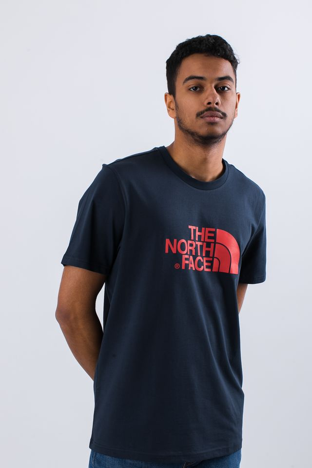 Koszulka The North Face  <br/><small>EASY TEE BER URBAN NAVY/FIERY RED </small>  T92TX3BER