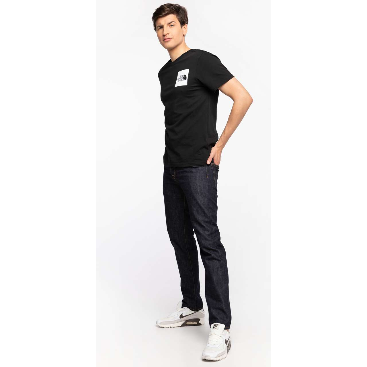 Koszulka The North Face  <br/><small>S/S FINE TEE JK3 TNF BLACK </small>  NF00CEQ5JK31