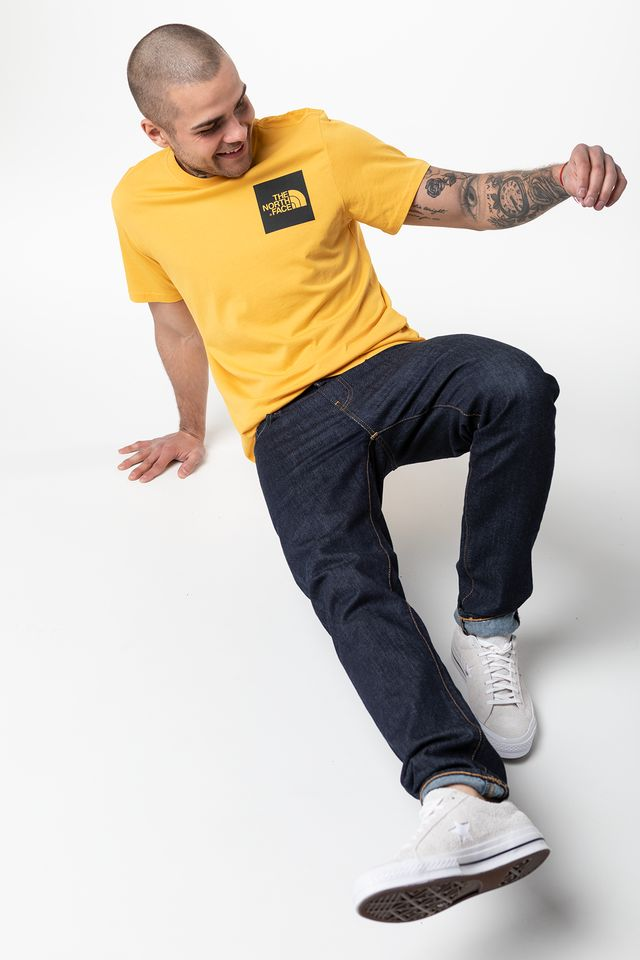 TNF YELLOW FINE TEE 70M