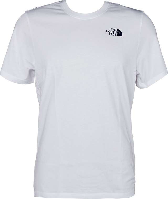 The North Face M SS REDBOX CEL TEE TNF WHITE/URBAN NAVY T92ZXESFT