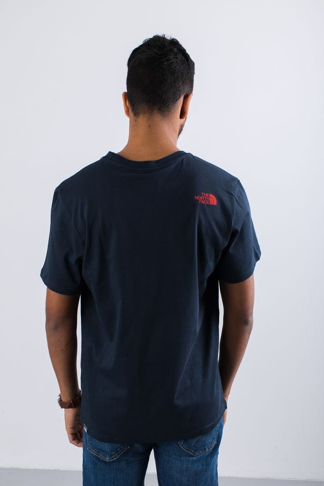 Koszulka The North Face  <br/><small>SIMPLE DOME BER URBAN NAVY/FIERY RED </small>  T92TX5BER