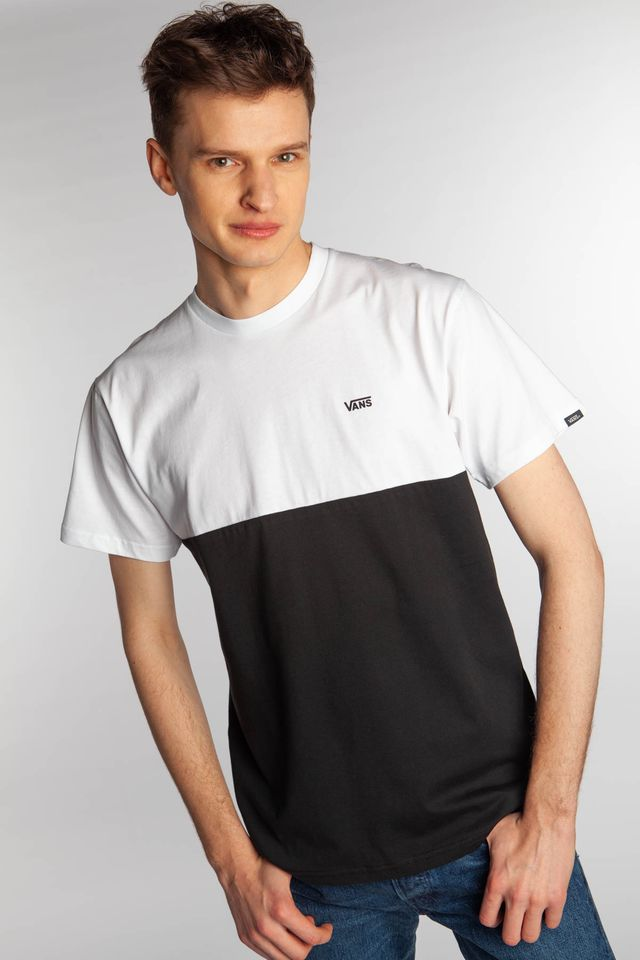 BLACK/WHITE COLORBLOCK TEE Y28