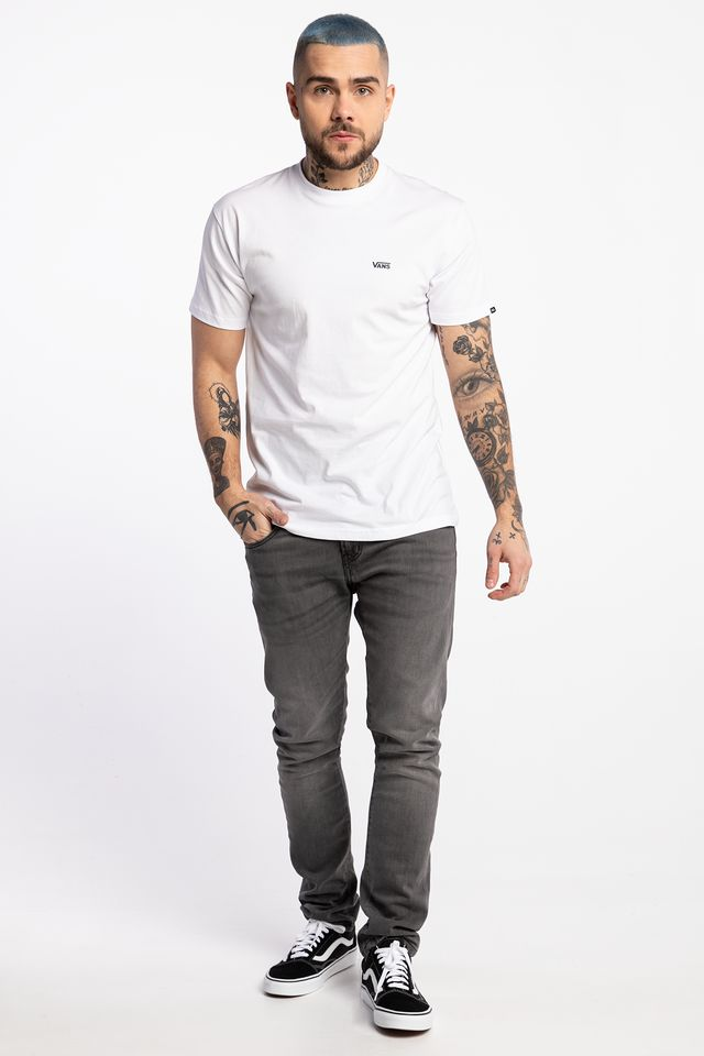 Vans LEFT CHEST LOGO TEE YB2 WHITE VN0A3CZEYB21