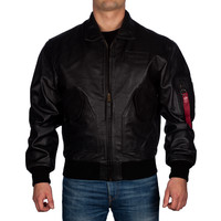 Kurtka Alpha Industries CWU Leather 03