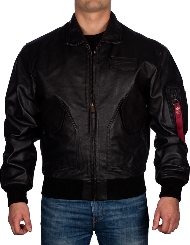 Kurtka Alpha Industries  <br/><small>CWU Leather 03 </small>  100109-03