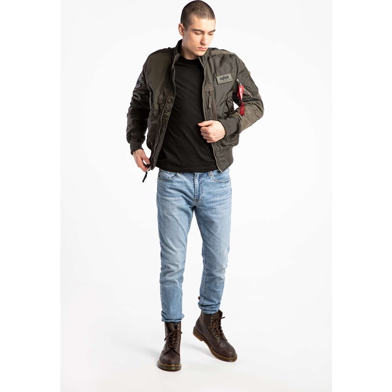 Kurtka Alpha Industries  <br/><small>ENGINE 04 REP. GREY </small>  103101-04