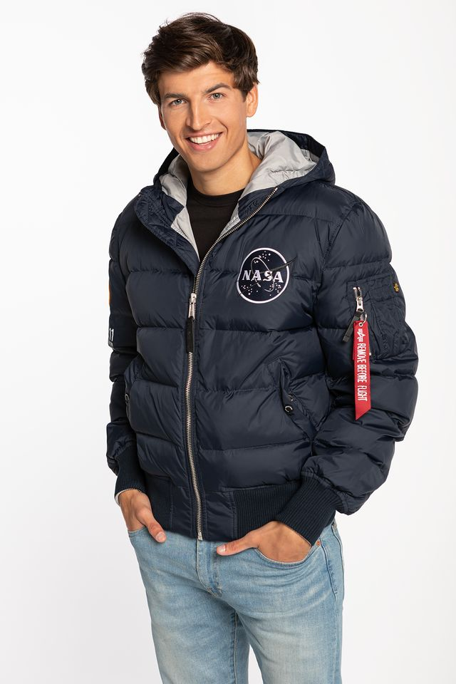 Alpha Industries HOODED PUFFER APOLLO 11 07 REP. BLUE 188142-07