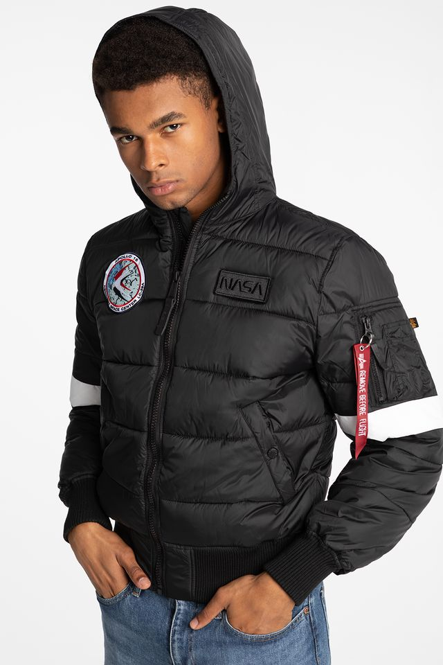 BLACK Hooded Puffer FD NASA 121