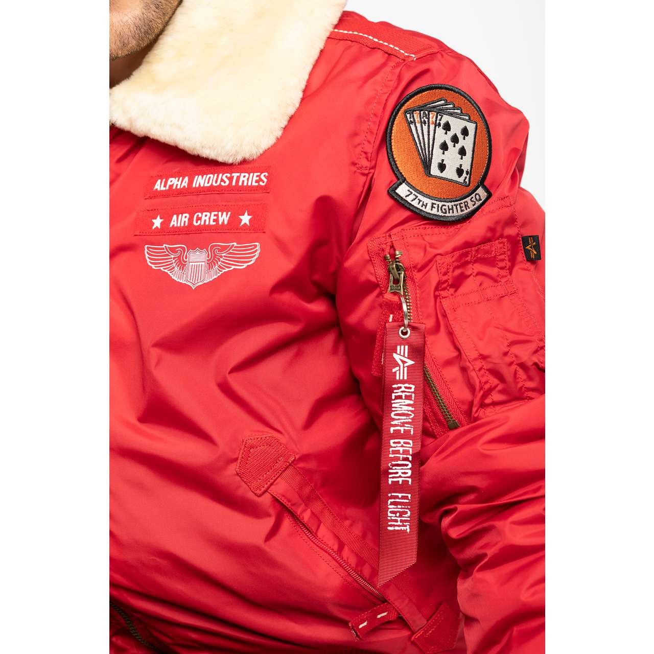 Kurtka Alpha Industries  <br/><small>INJECTOR III AIR FORCE 328 SPEED RED </small>  198113-328