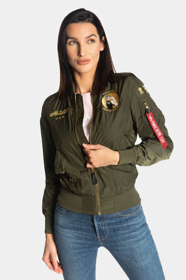 Alpha Industries MA-1 MISSILEER WMN 257 DARK GREEN 126001-257