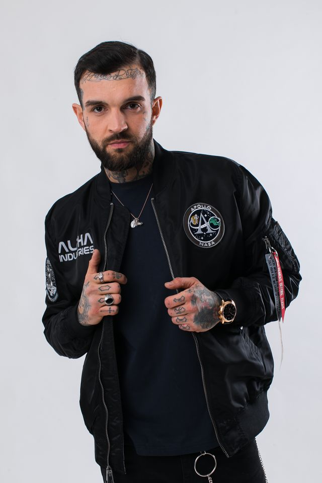Alpha Industries MA-1 MOON LANDING REV 03 BLACK 196125-03
