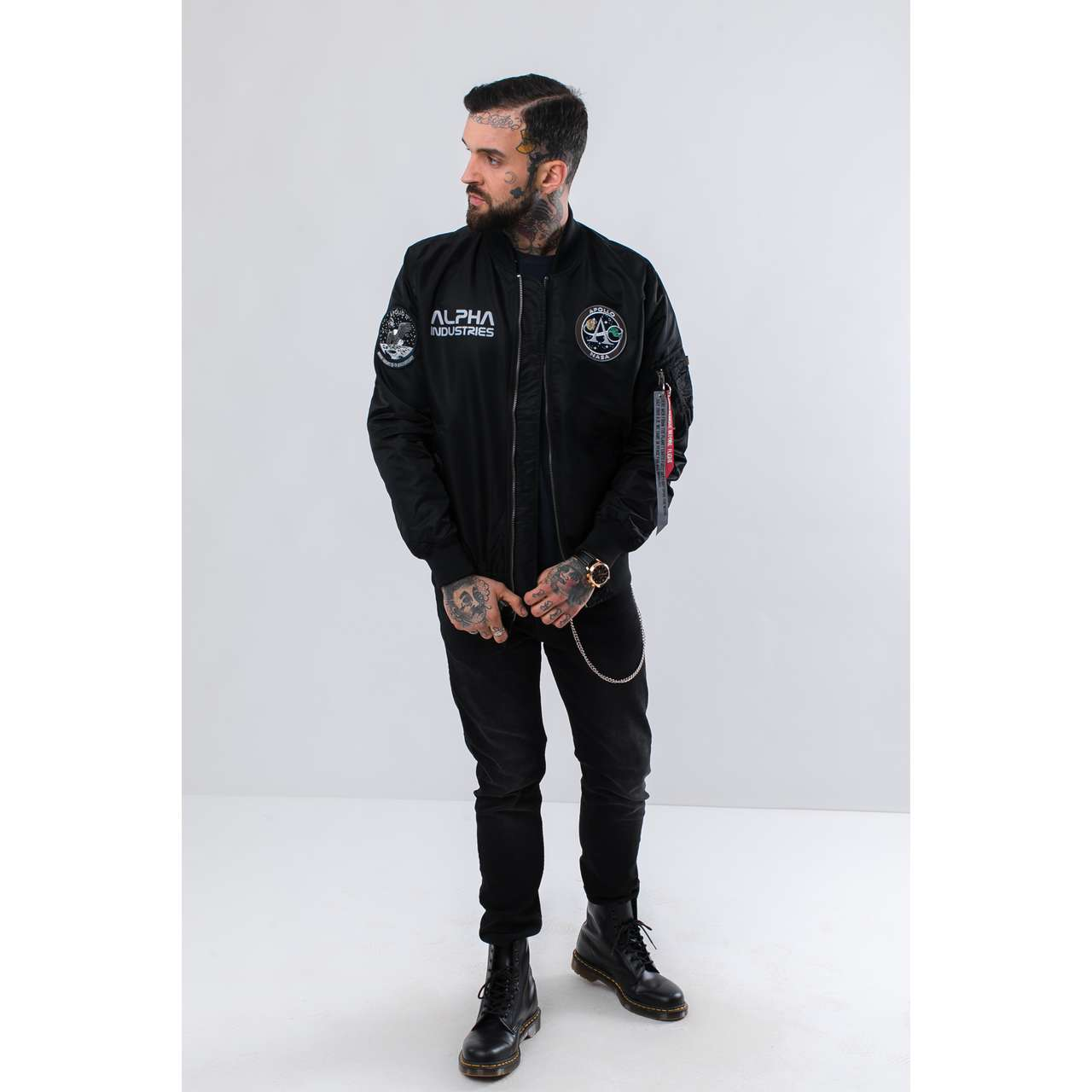 Kurtka Alpha Industries  <br/><small>MA-1 MOON LANDING REV 03 BLACK </small>  196125-03