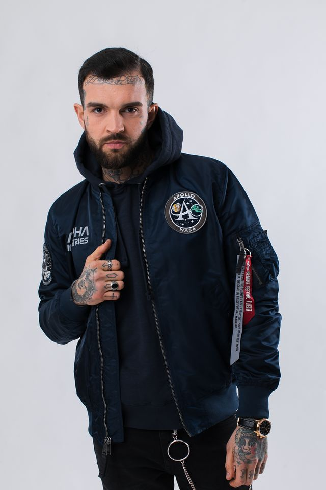 Alpha Industries MA-1 MOON LANDING REV 07 REP. BLUE 196125-07
