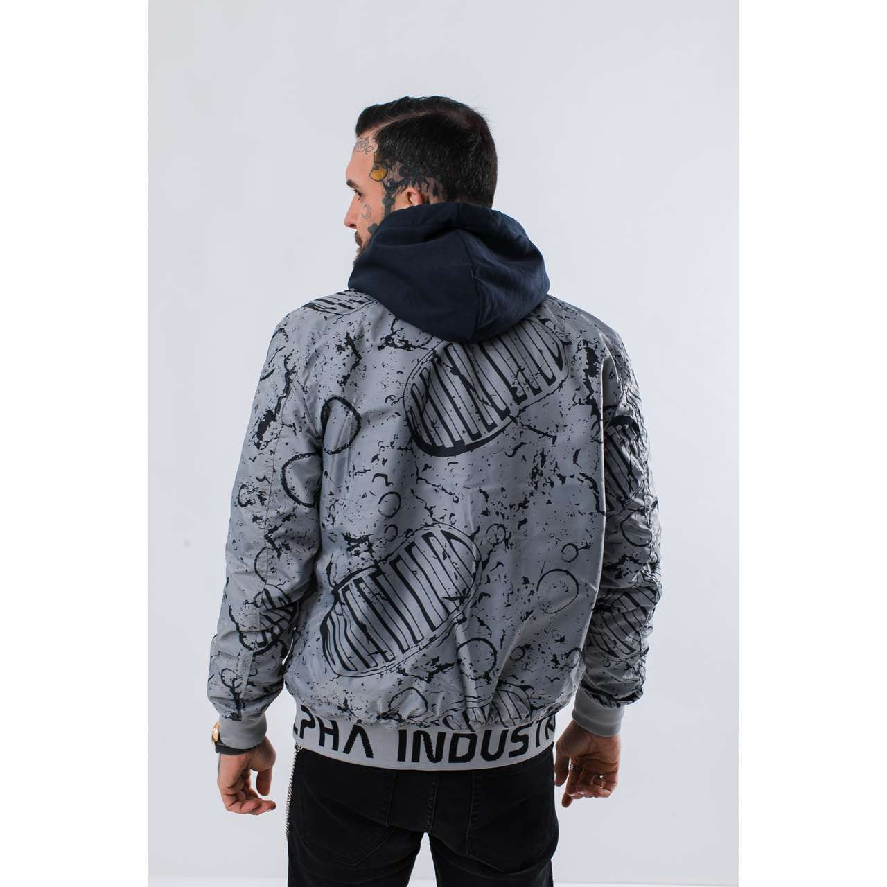 Kurtka Alpha Industries  <br/><small>MA-1 MOON LANDING REV 07 REP. BLUE </small>  196125-07