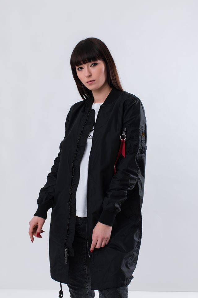 Kurtka Alpha Industries  <br/><small>MA-1 TT COAT WMN 03 BLACK </small>  166042-03