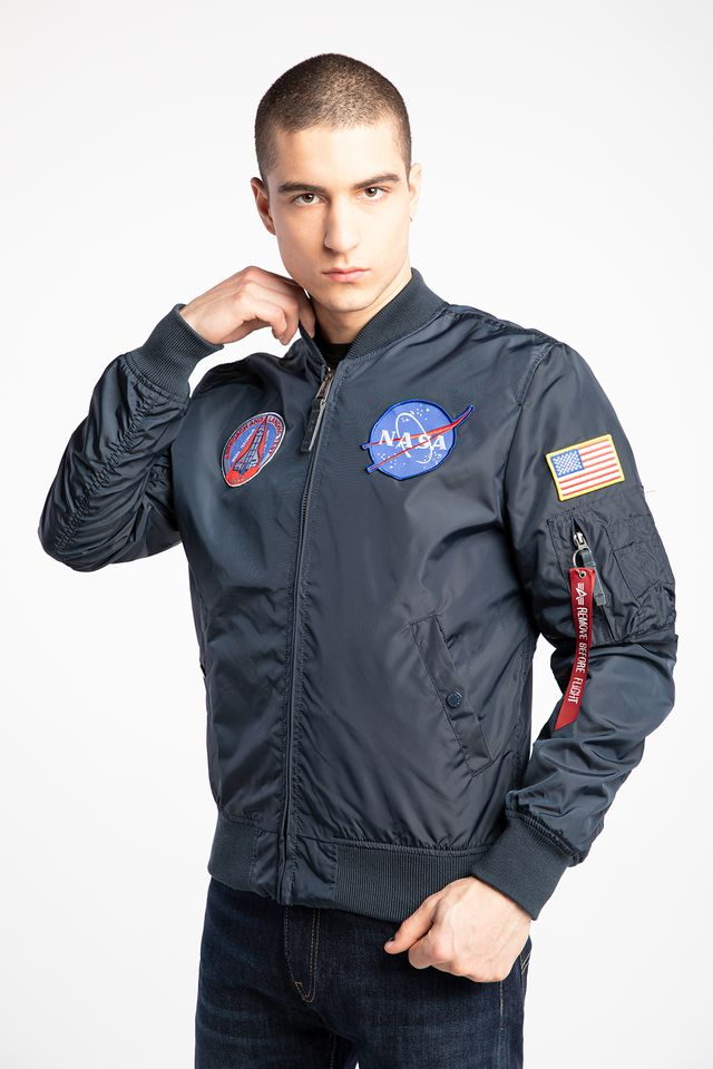 Alpha Industries Ma 1 TT Nasa Reversible II 07 Rep. Blue 186101-07