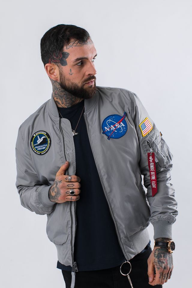 Alpha Industries MA-1 TT NASA REVERSIBLE II 31 SILVER 186101-31