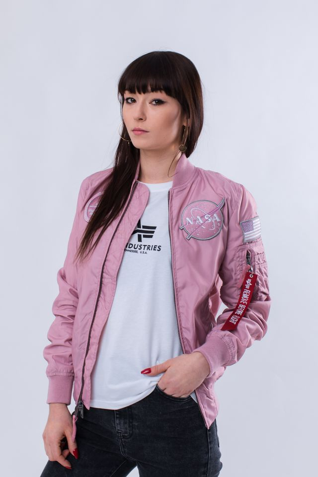 Alpha Industries MA-1 TT NASA REVERSIBLE WMN 397 SILVER PINK 186022-397