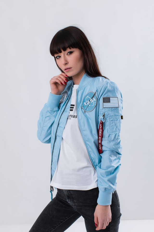 Alpha Industries MA-1 TT NASA REVERSIBLE WMN 398 AIR BLUE 186022-398