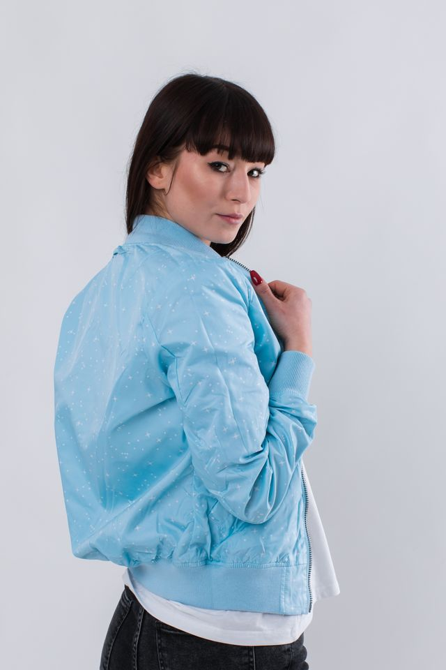 Kurtka Alpha Industries  <br/><small>MA-1 TT NASA REVERSIBLE WMN 398 AIR BLUE </small>  186022-398