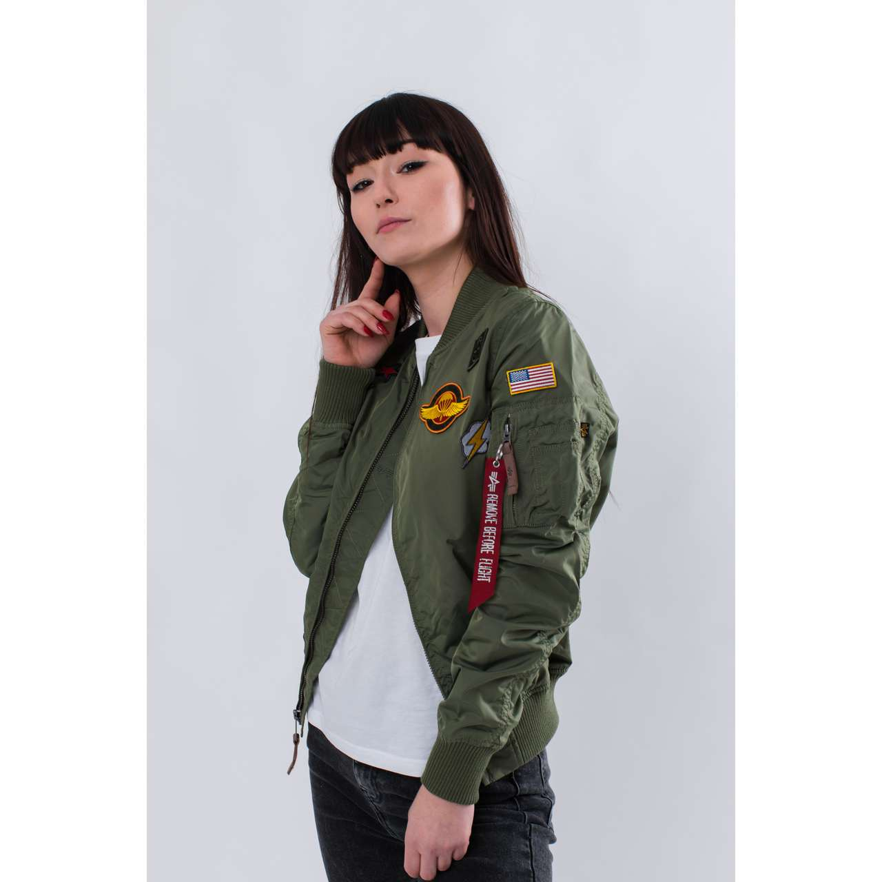 Kurtka Alpha Industries  <br/><small>MA-1 TT PATCH II WMN 01 SAGE GREEN </small>  178013-01