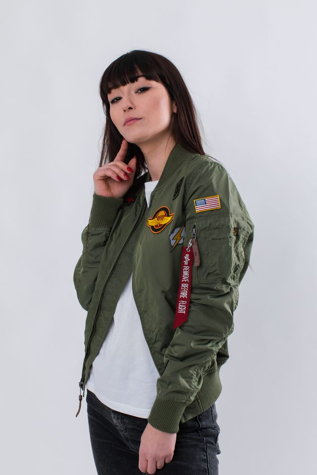 Alpha Industries MA-1 TT PATCH II WMN 01 SAGE GREEN 178013-01