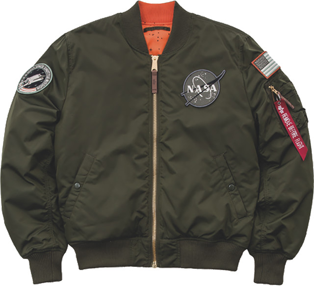 Alpha Industries MA-1 VF NASA RP 257 DARK GREEN 178121-257