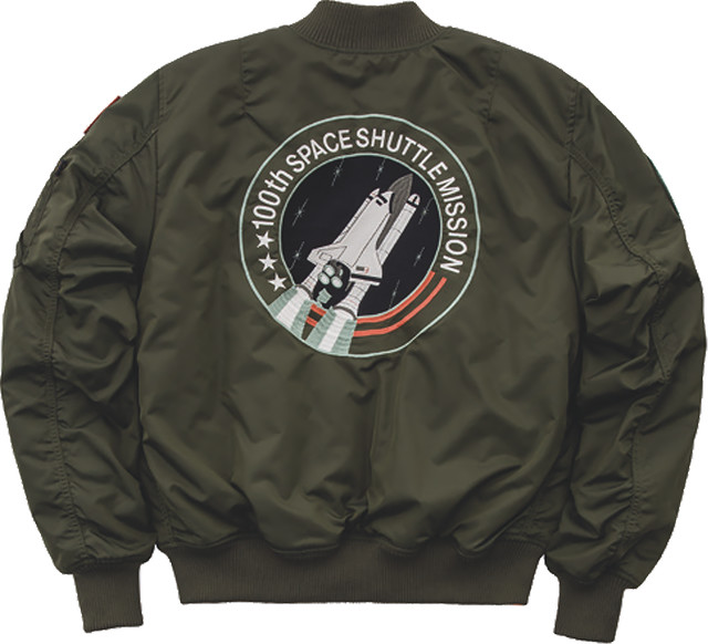 Kurtka Alpha Industries  <br/><small>MA-1 VF NASA RP 257 DARK GREEN </small>  178121-257