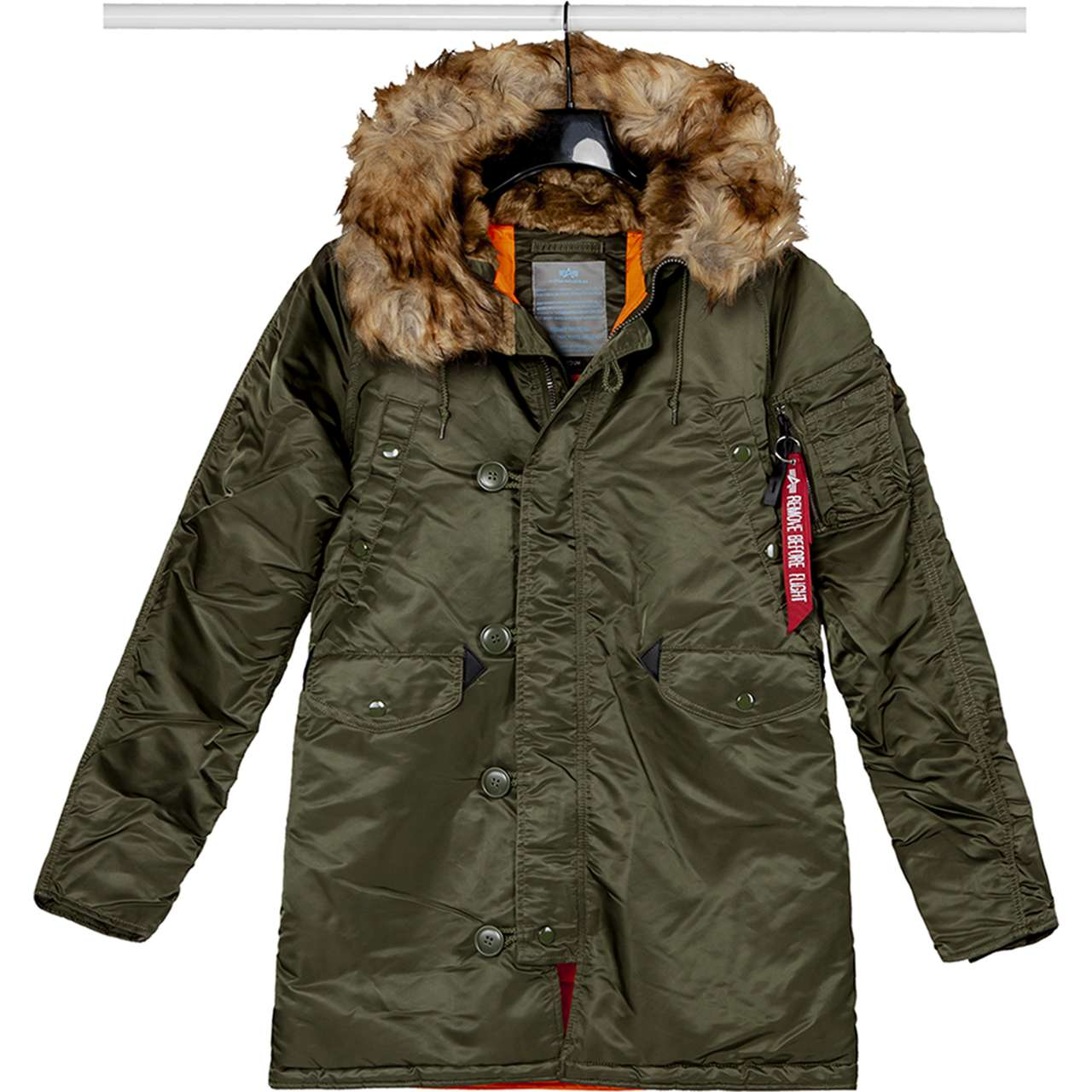 Kurtka Alpha Industries  <br/><small>N3B VF 59 WMN 257 DARK GREEN </small>  113007-257