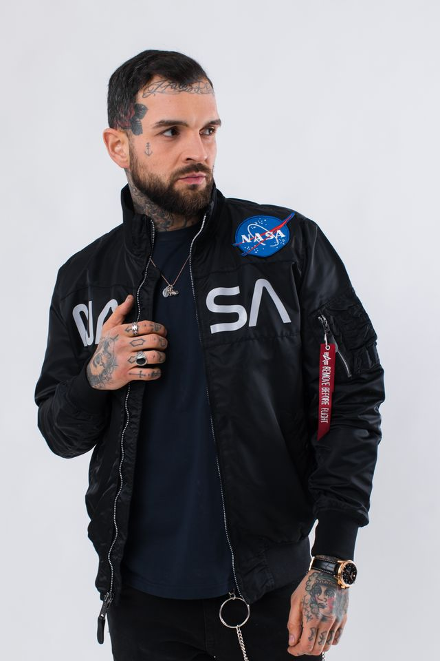 Alpha Industries NASA JACKET FLIGHT NYLON 03 BLACK 186124-03