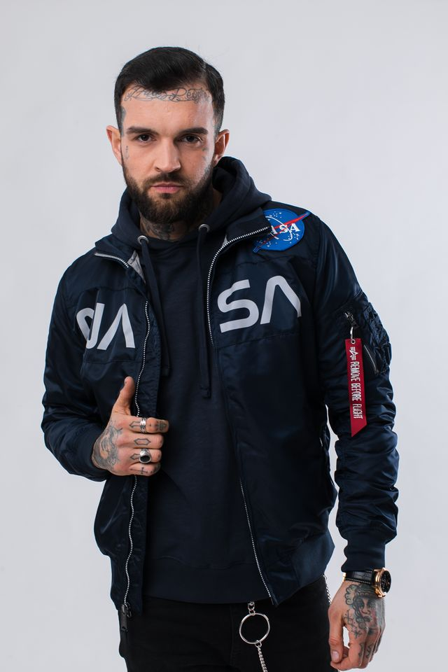 Kurtka Alpha Industries  <br/><small>NASA JACKET FLIGHT NYLON 07 REP. BLUE </small>  186124-07