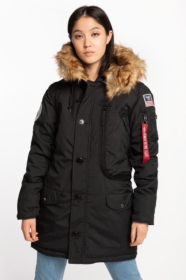 Alpha Industries POLAR JACKET WMN 03 BLACK 123002-03