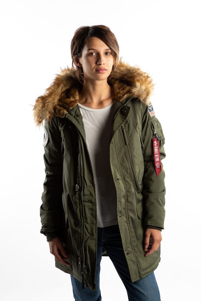 Alpha Industries POLAR JACKET WMN 257 DARK GREEN 123002-257