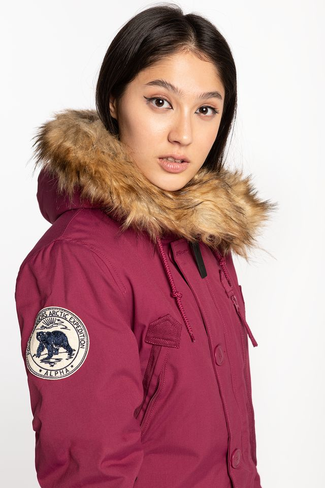 Alpha Industries POLAR JACKET WMN 454 MAJOR RED 123002-454