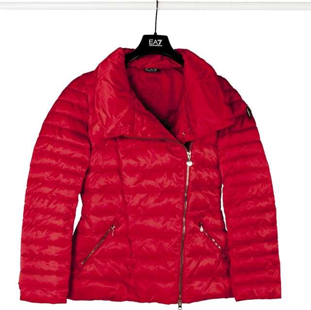 EA7 Emporio Armani WOMAN TESSUTO BOMBER JACKET 1450 TANGO RED 6ZTB10TN05Z-1450
