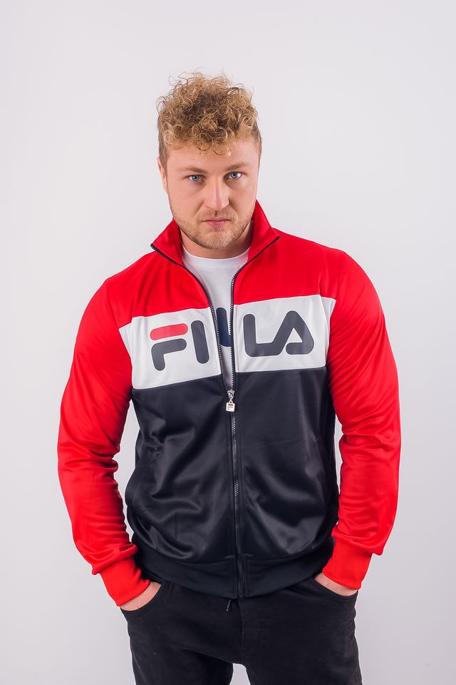 Fila MEN BALIN TRACK JACKET A089 TRUE RED/BLACK/BRIGHT WHITE 682386-A089