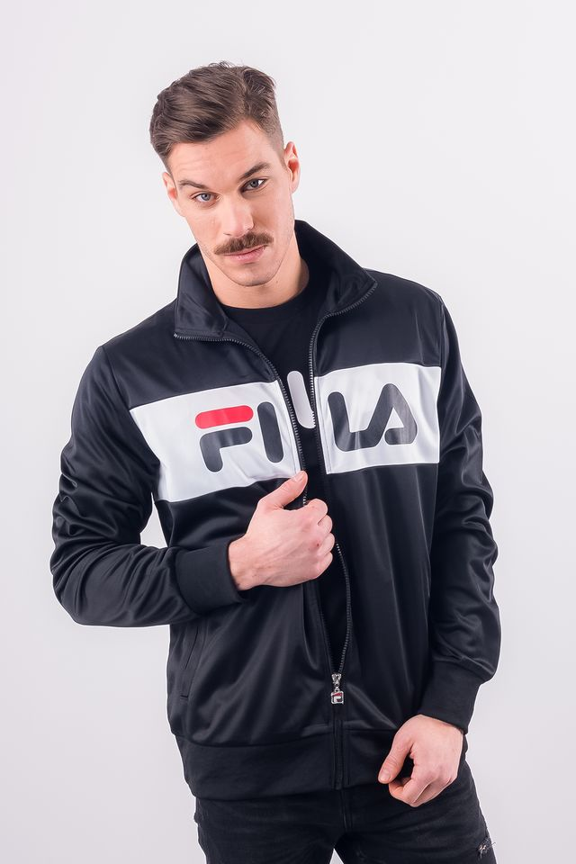 Fila MEN BALIN TRACK JACKET E09 BLACK/BRIGHT WHITE 682386-E09