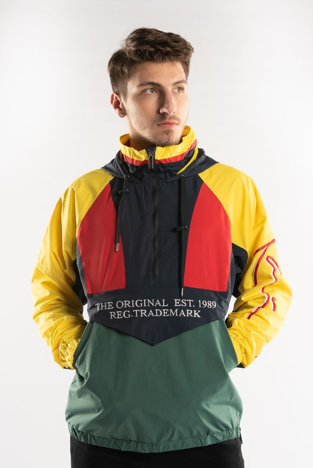Karl Kani BLOCK WINDBREAKER GREEN/NAVY/YELLOW/RED 6084492