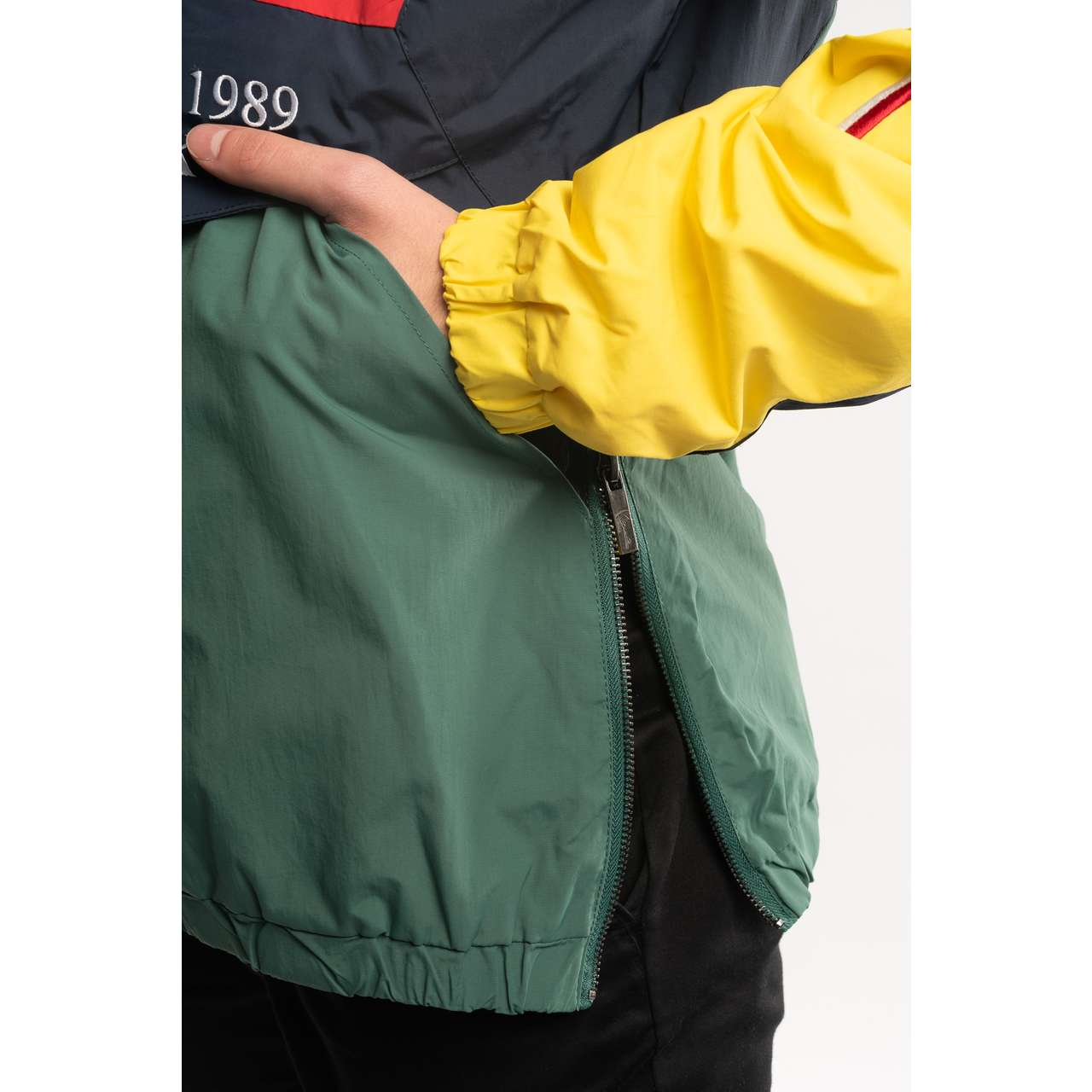 Kurtka Karl Kani  <br/><small>BLOCK WINDBREAKER GREEN/NAVY/YELLOW/RED </small>  6084492