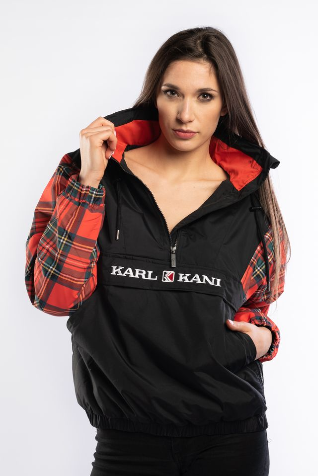 Karl Kani CHECK WINDBREAKER BLACK/RED/GREEN 6174039