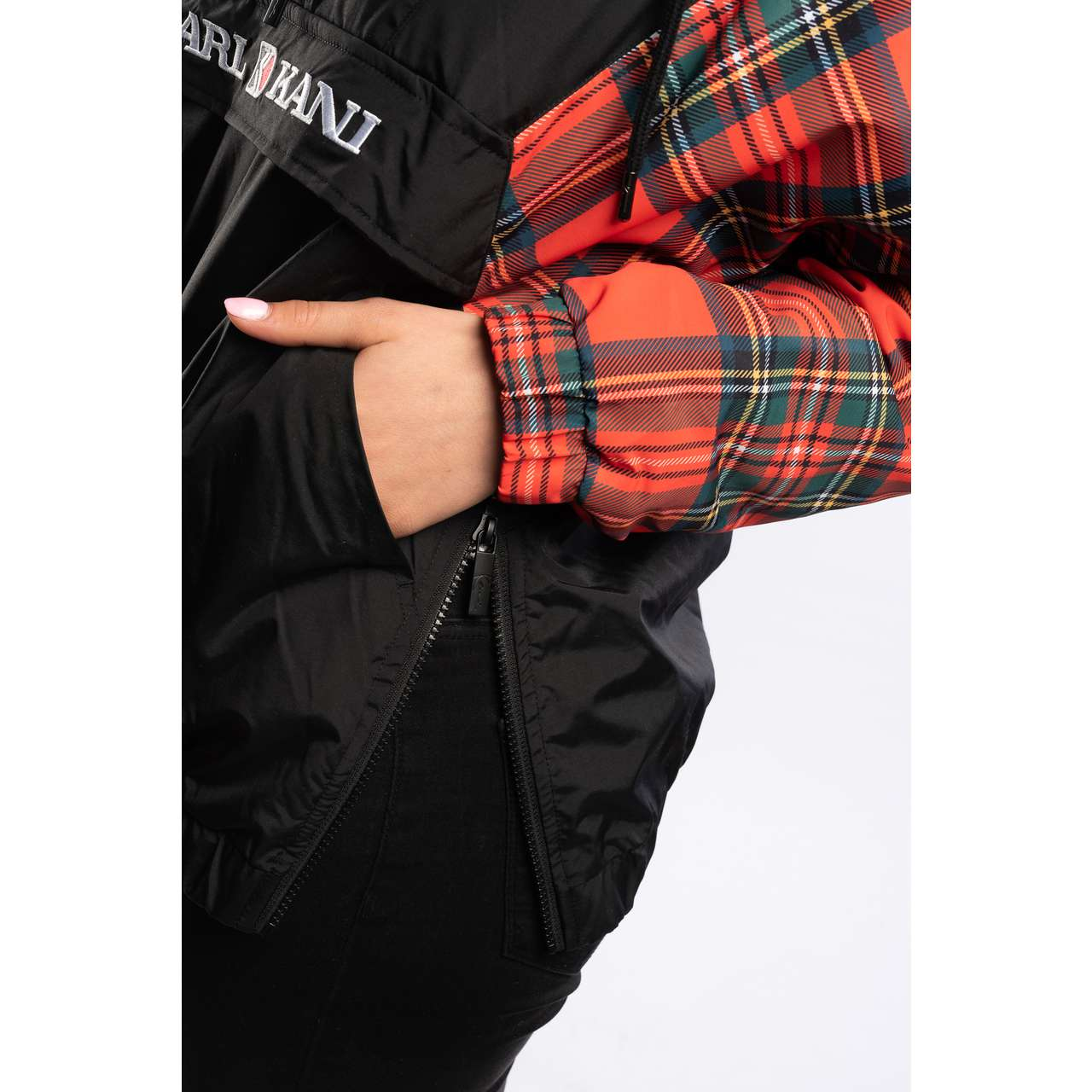 Kurtka Karl Kani  <br/><small>CHECK WINDBREAKER BLACK/RED/GREEN </small>  6174039