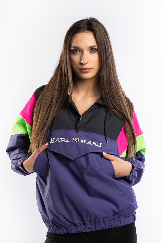 Karl Kani RETRO BLOCK WINDBREAKER PURPLE/BLACK/GREEN/PINK 6184055