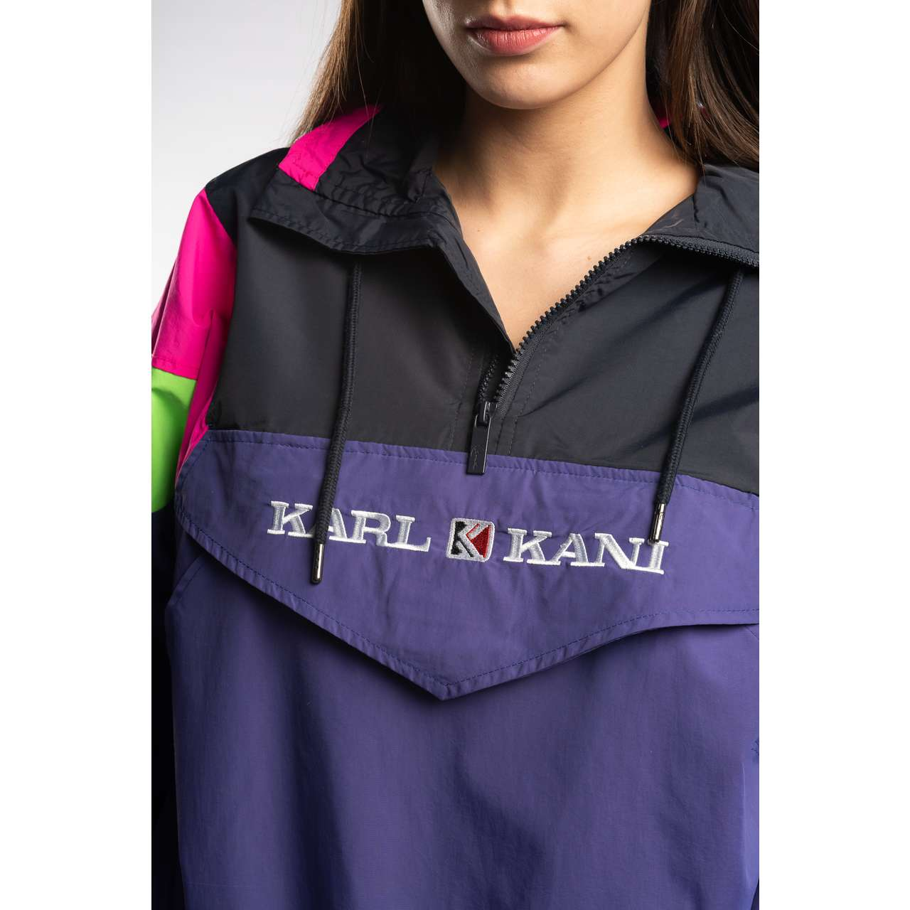 Kurtka Karl Kani  <br/><small>RETRO BLOCK WINDBREAKER PURPLE/BLACK/GREEN/PINK </small>  6184055