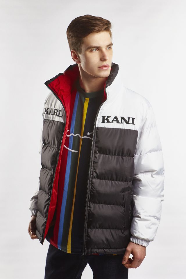 Karl Kani RETRO REVERSIBLE PUFFER JACKET 324 BLACK/WHITE/RED 6076324