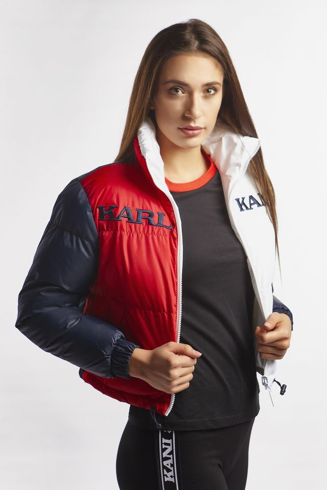 Karl Kani RETRO REVERSIBLE PUFFER JACKET 168 NAVY/RED/WHITE 6176168