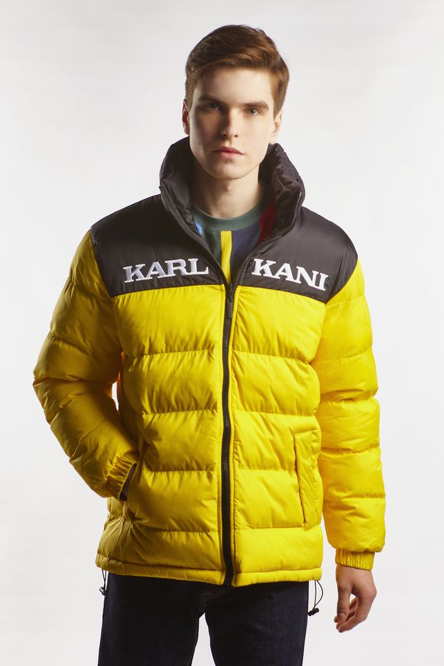 Karl Kani RETRO REVERSIBLE PUFFER JACKET 325 YELLOW/BLACK 6076325