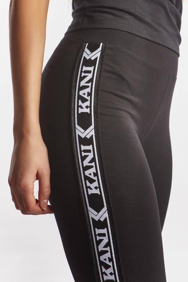 Legginsy Karl Kani  <br/><small>TAPE LEGGINGS 555 BLACK/WHITE </small>  6104555