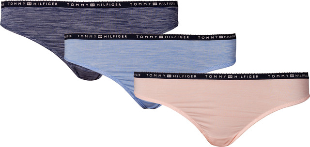 Tommy Hilfiger 3PACK BIKINI 227 BLUE/LIGHT BLUE/ROSE UW0UW00562-227