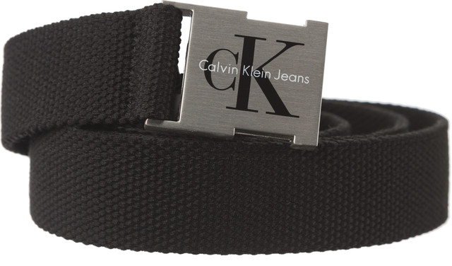 Calvin Klein J CANVAS CLIP BUCKLE BELT 3 001 BLACK K60K604146-001