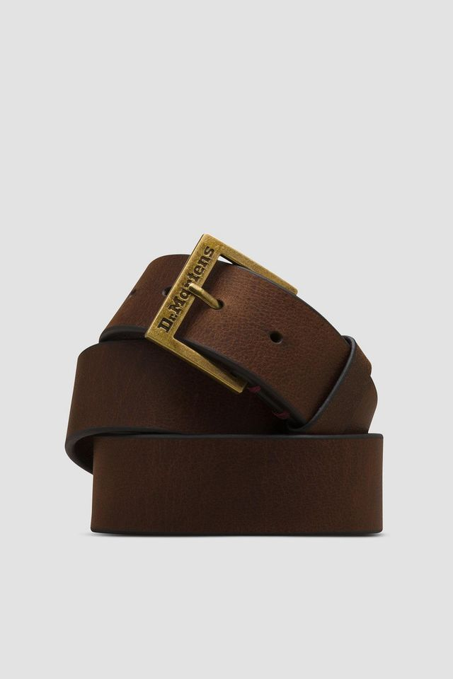 Dr. Martens GRIZZLY LEATHER BELT 201 DARK BROWN GRIZZLY DMAC701201